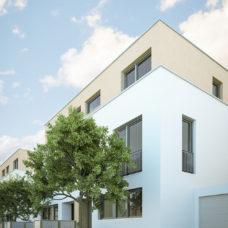 """Aussenanischt eines Hauses vom Projekt """"Bonum12"""" in Kelkheim"""