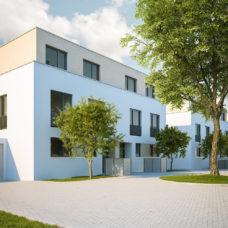 """Vorplatz und Hausansicht vom Projekt """"Bonum12"""" in Kelkheim"""